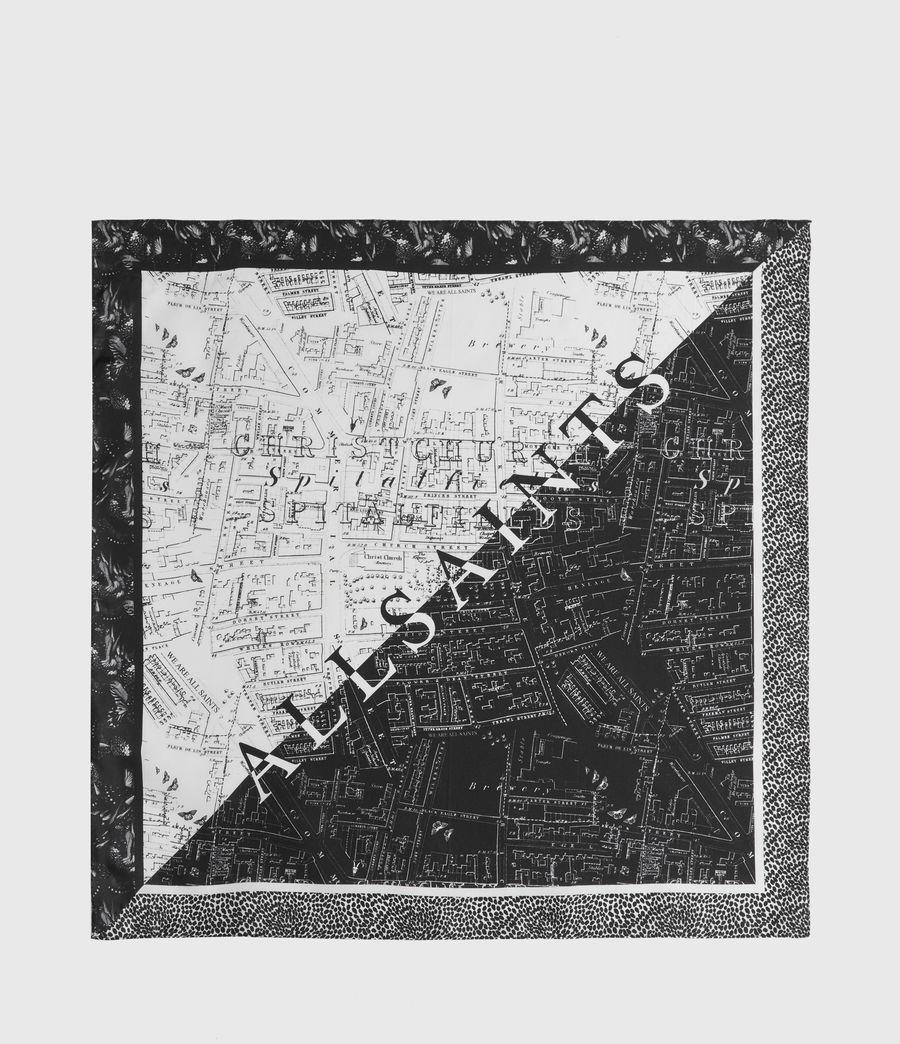 Women's Spitalfields Silk Bandana (black) - Image 5