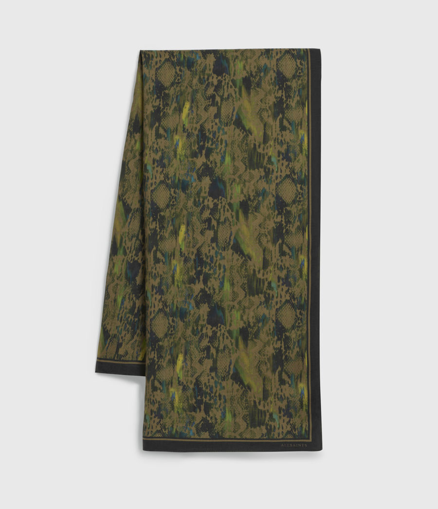Womens Masala Square Scarf (green) - Image 1