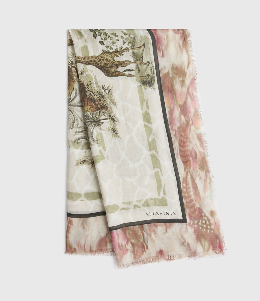 Womens Tajpur Silk Square Scarf (haze_white) - Image 1