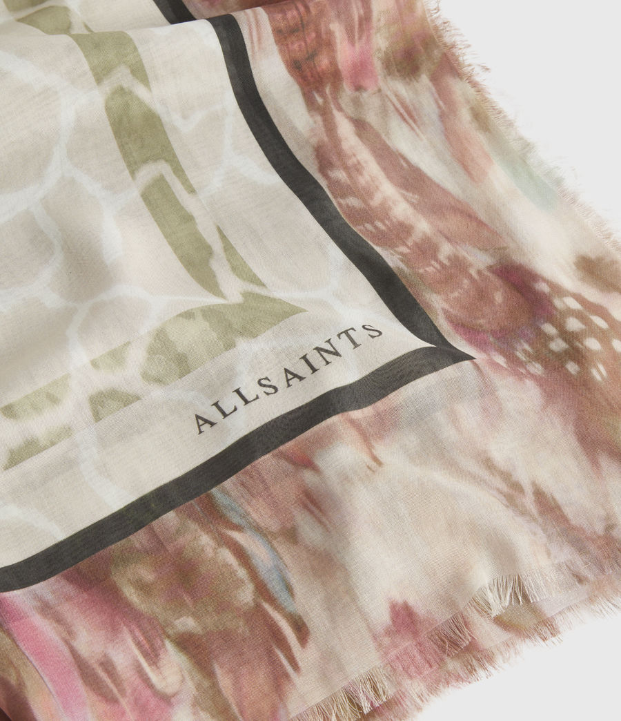 Womens Tajpur Silk Square Scarf (haze_white) - Image 2