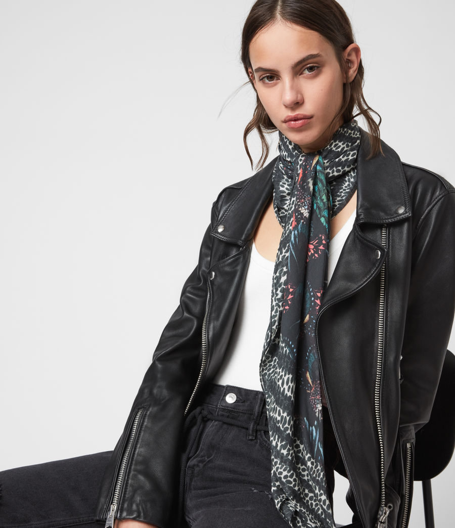 Womens Flutter Fusion Square Scarf (black) - Image 2