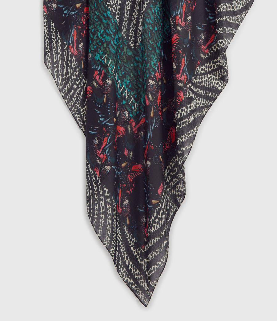 Womens Flutter Fusion Square Scarf (black) - Image 5
