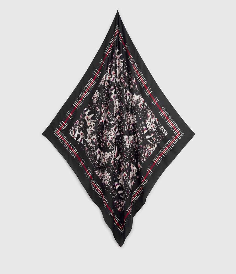 Womens Allinthis Silk Bandana (black) - Image 1