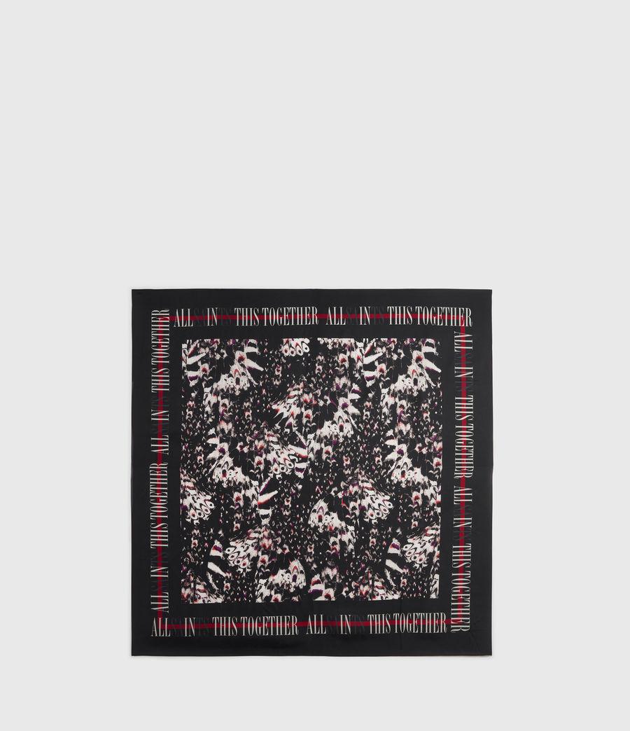 Womens Allinthis Silk Bandana (black) - Image 5