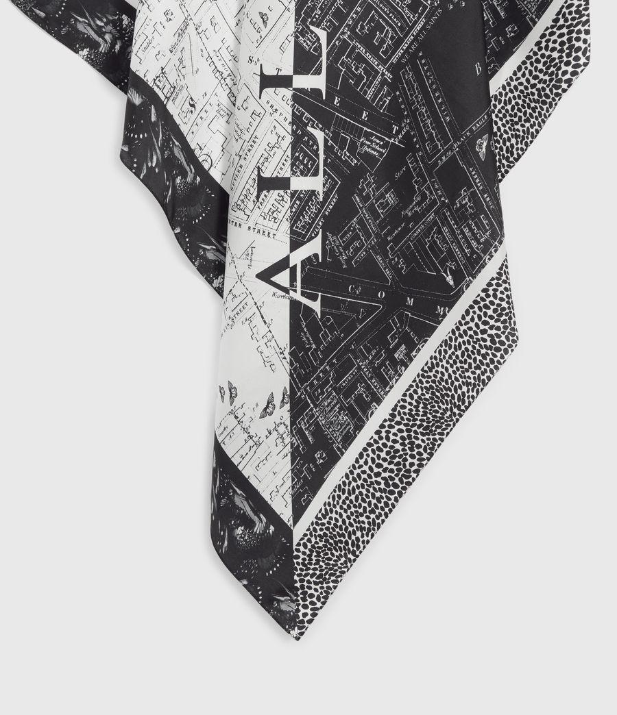 Women's Spitalfields Square Silk Scarf (black) - Image 5