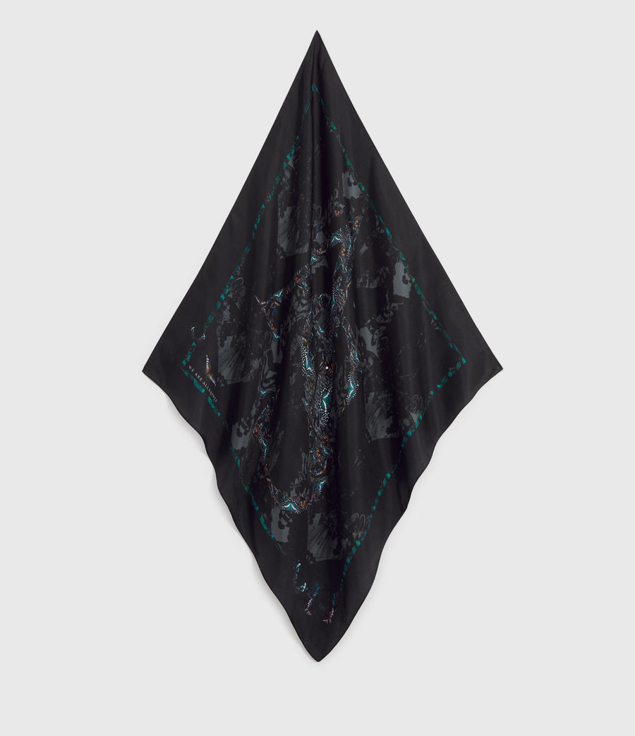 Womens Allofaflutter Silk Bandana (black) - Image 2