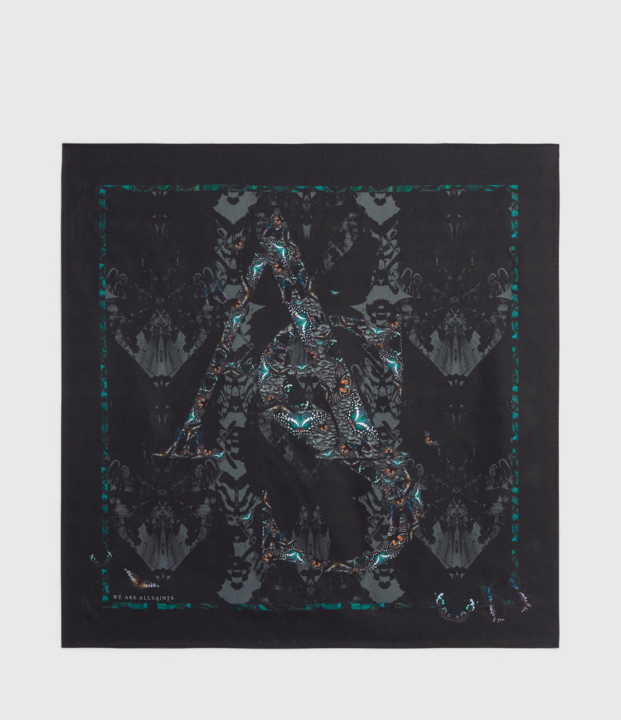 Womens Allofaflutter Silk Bandana (black) - Image 4
