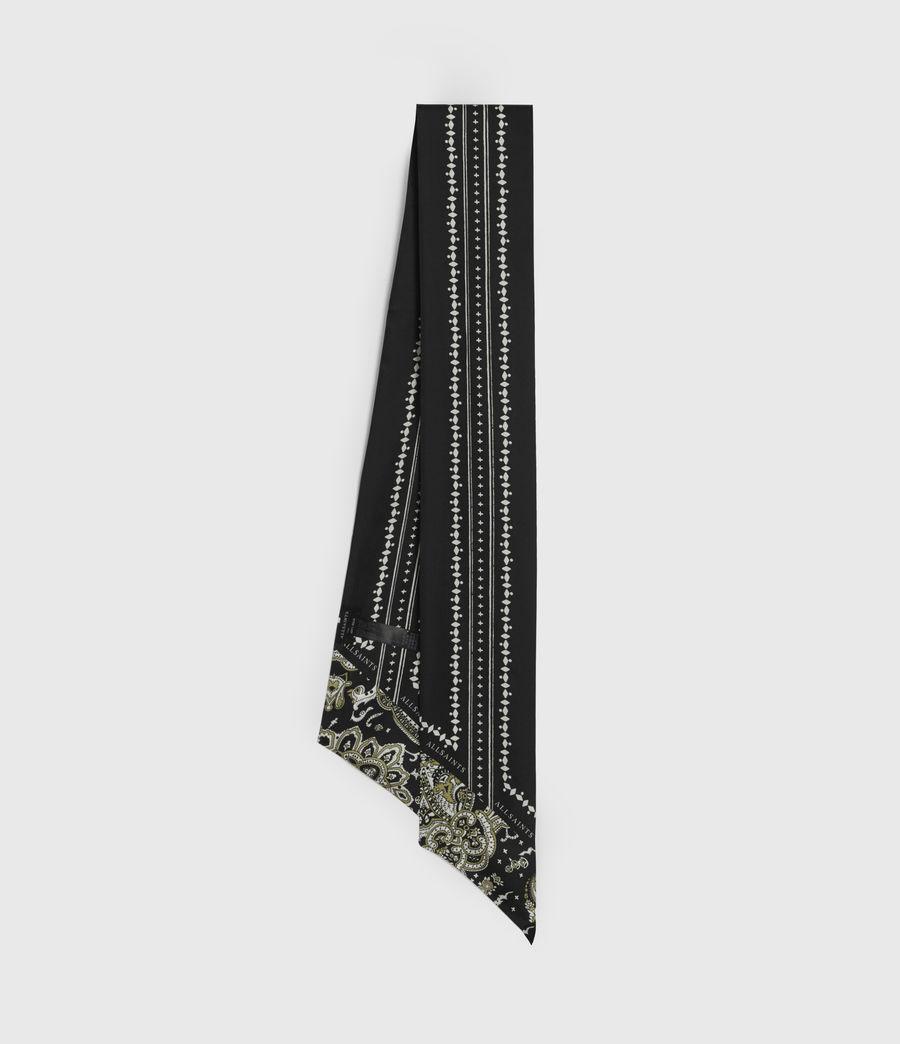 Women's Odisha Silk Skinny Scarf (black) - Image 1