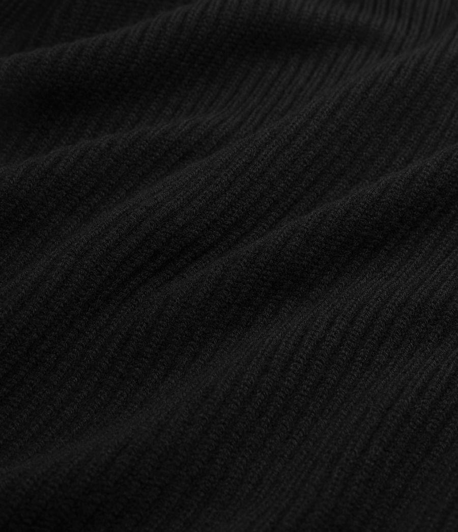 Womens Jora Rib Ruana Wool Blend Scarf (black) - Image 5
