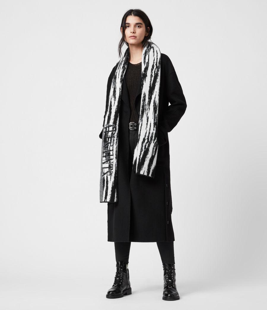 Womens Camo Merino Wool Scarf (chalk_white) - Image 1