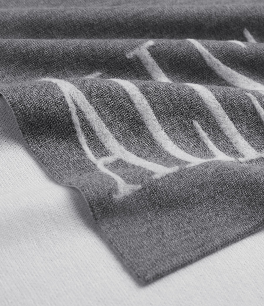 Womens Aspen Merino Wool Scarf (grey_chalk) - Image 2