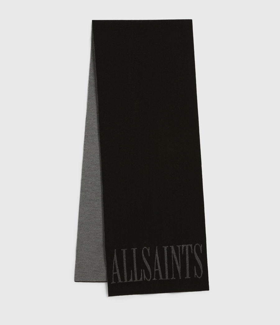 Women's Aspen Merino Wool Scarf (black_grey_marl) - Image 1