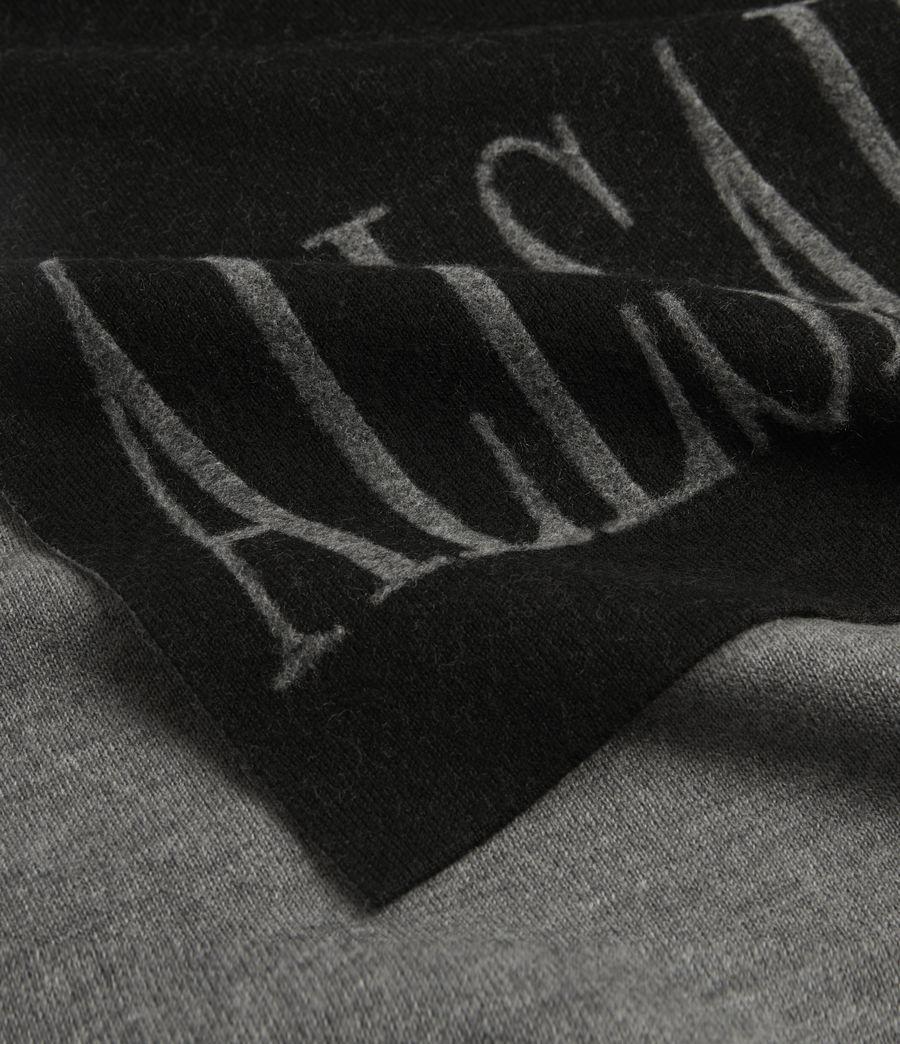 Women's Aspen Merino Wool Scarf (black_grey_marl) - Image 2