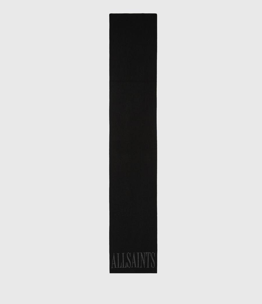 Women's Aspen Merino Wool Scarf (black_grey_marl) - Image 3