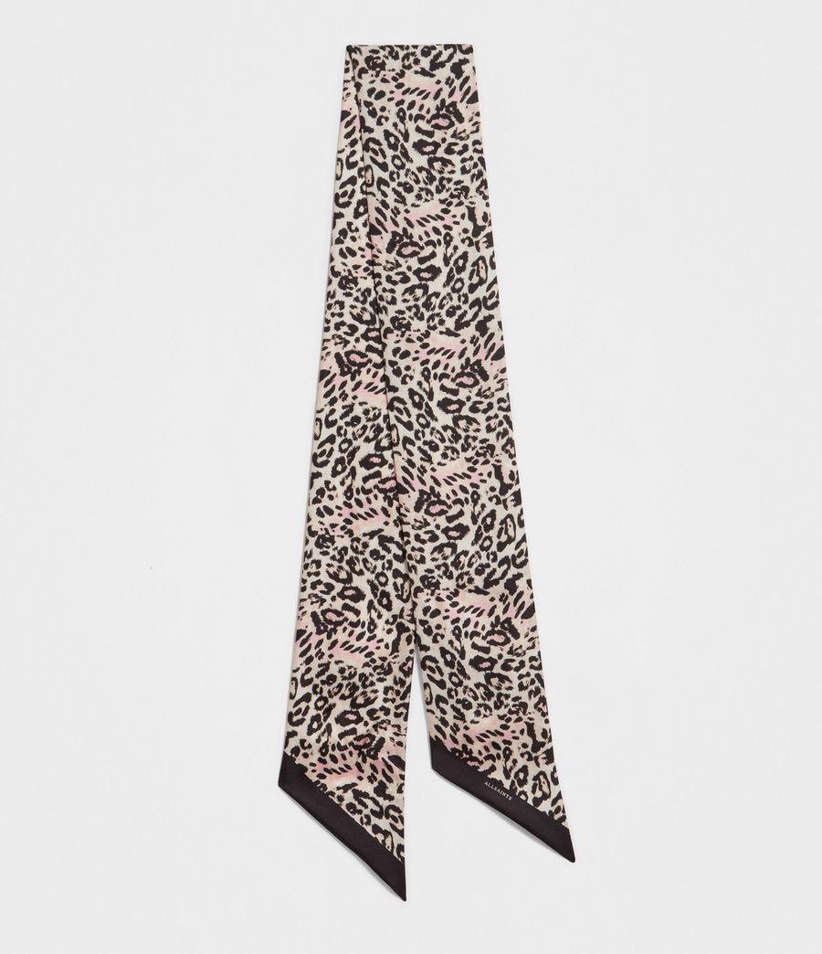 Women's Kara Silk Skinny Scarf (black) - Image 1