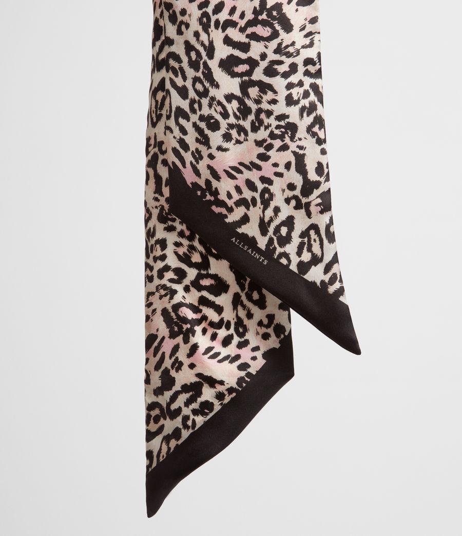 Women's Kara Silk Skinny Scarf (black) - Image 3