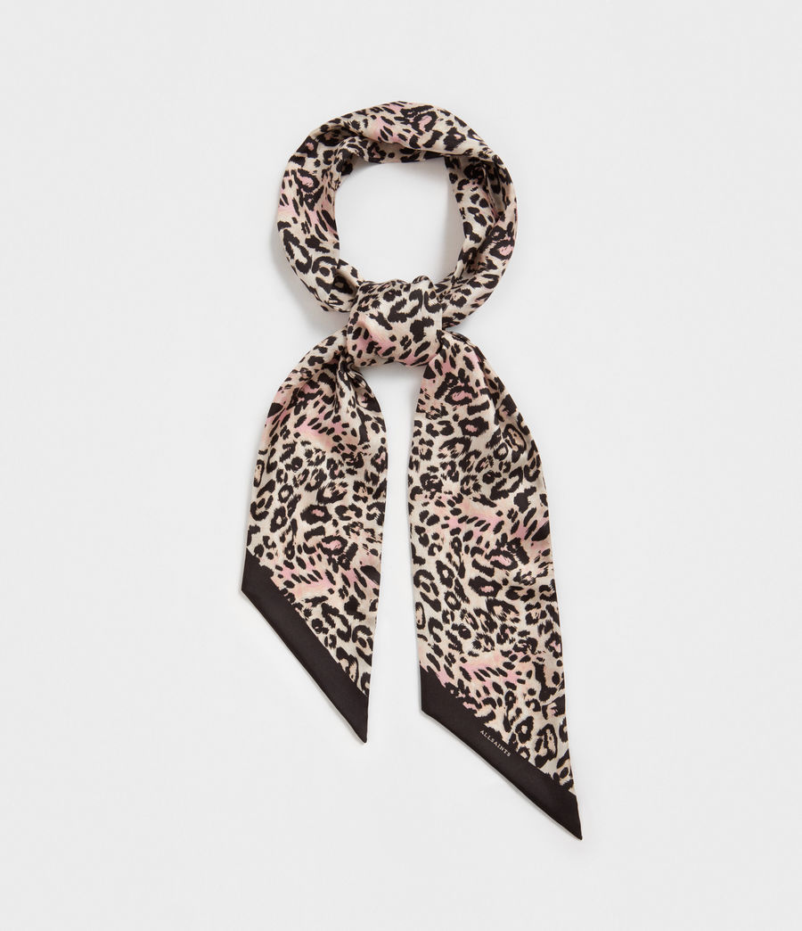 Women's Kara Silk Skinny Scarf (black) - Image 5
