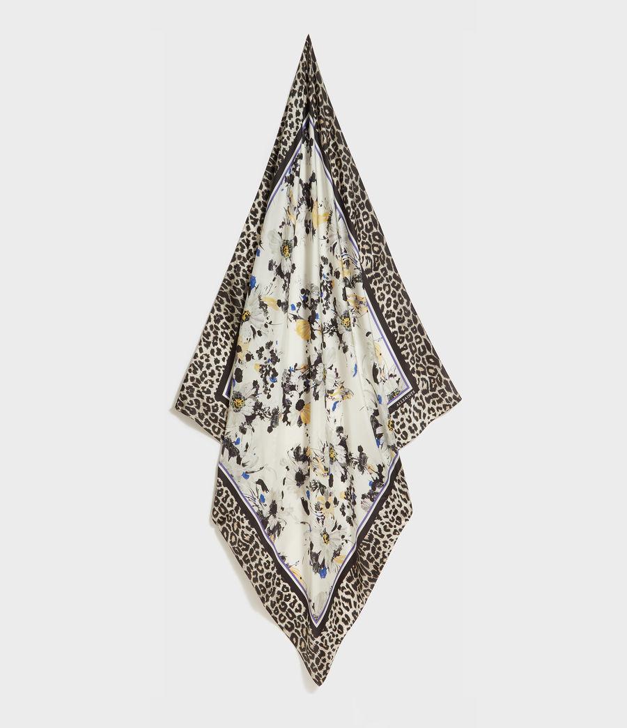 Women's Leppo Fleurier Silk Scarf (black) - Image 1