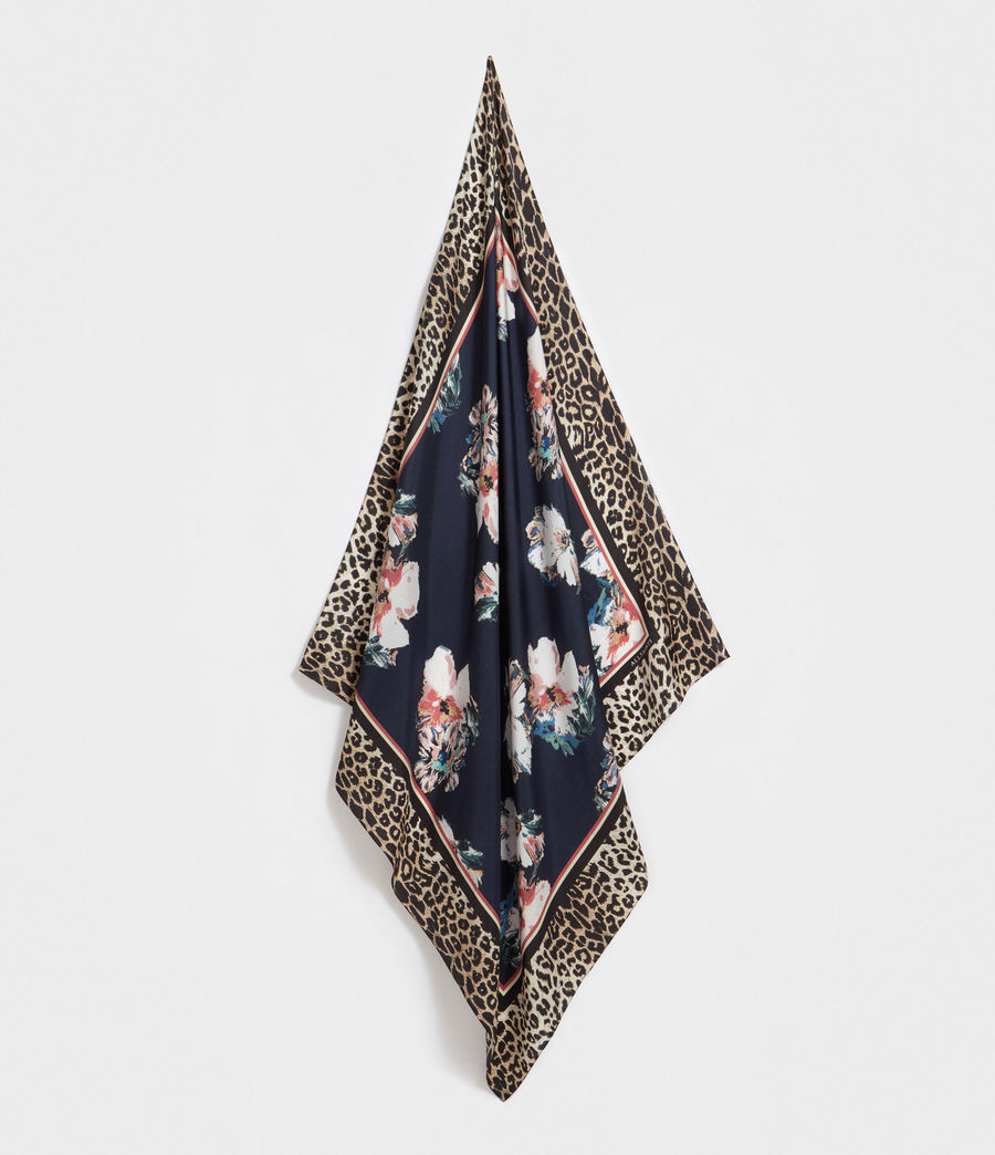 Women's Leppo Violy Silk Scarf (black) - Image 1