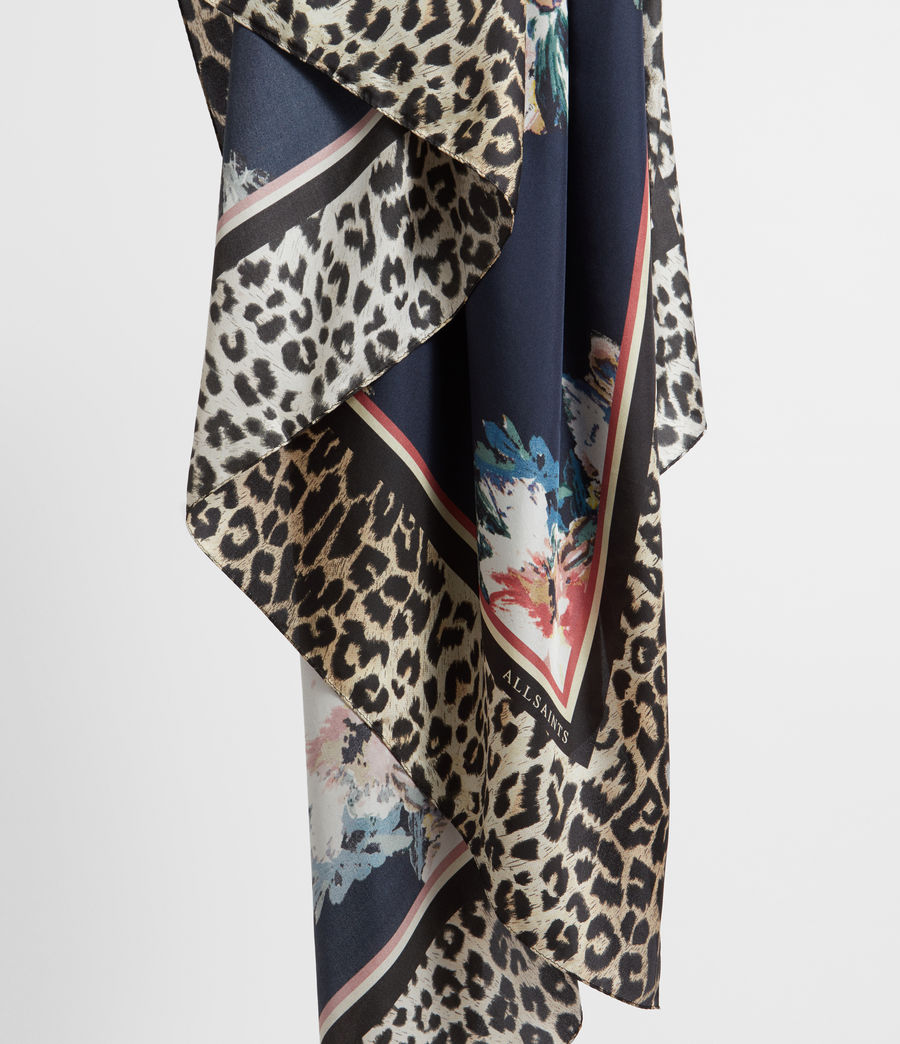 Women's Leppo Violy Silk Scarf (black) - Image 2