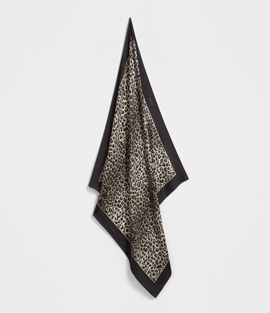 Womens Leppo Silk Scarf (black) - Image 1