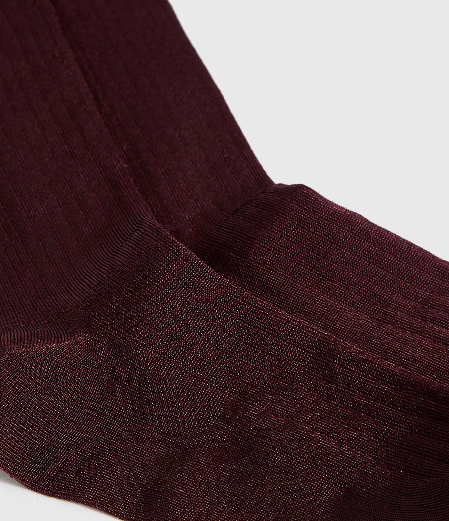 Womens Delta Socks (burgundy_red) - Image 2