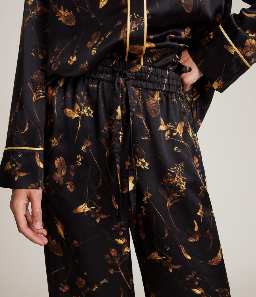 Women's Sofi Heligan Silk Blend Pyjama Trousers (black_gold) - Image 3