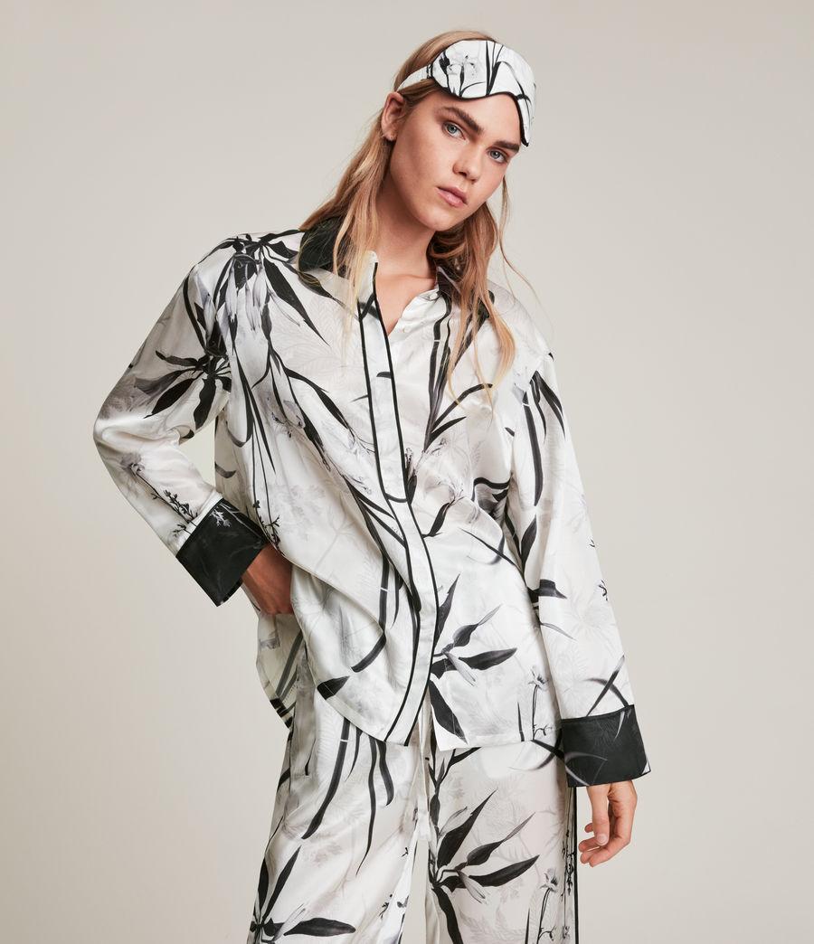 Womens Sofi Rutland Silk Blend Pyjama Top (ecru_white) - Image 1
