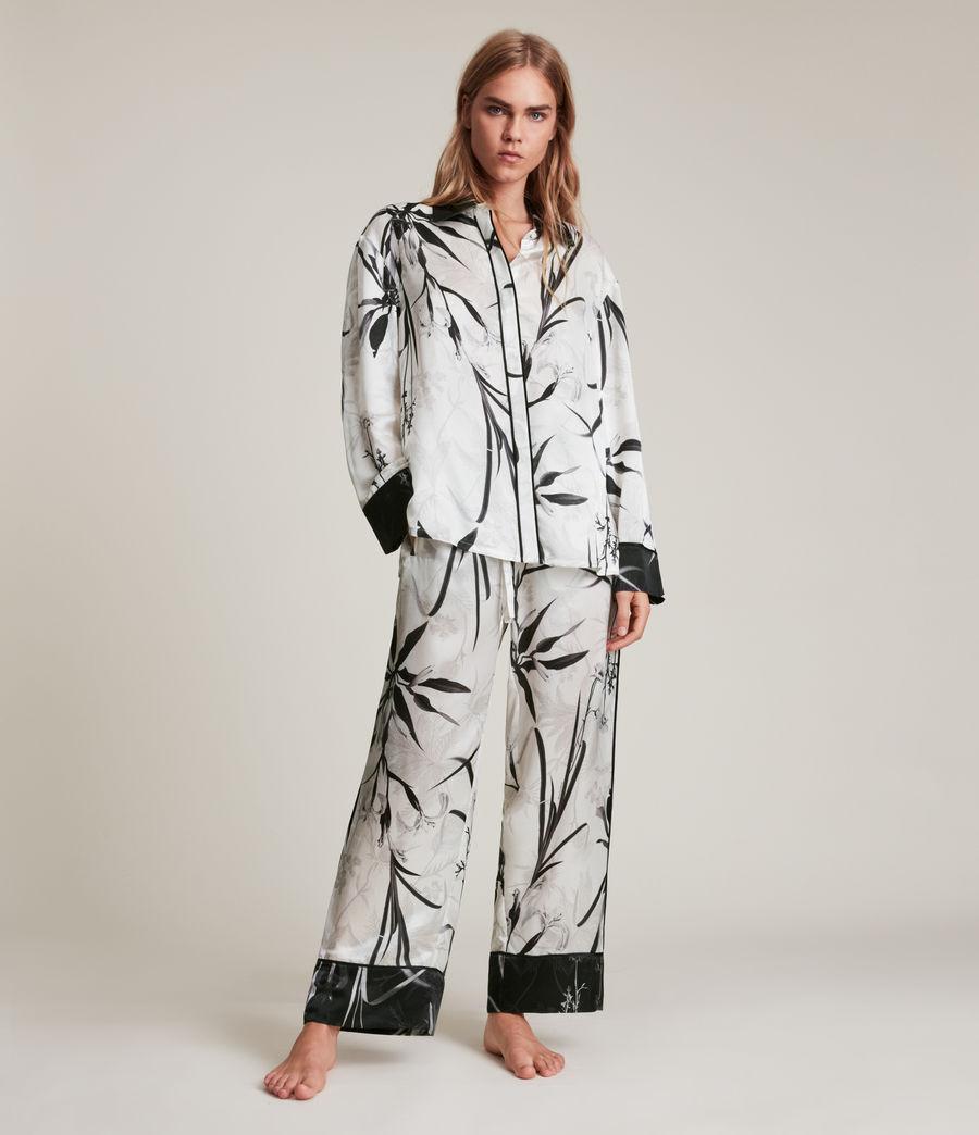 Womens Sofi Rutland Silk Blend Pyjama Top (ecru_white) - Image 3