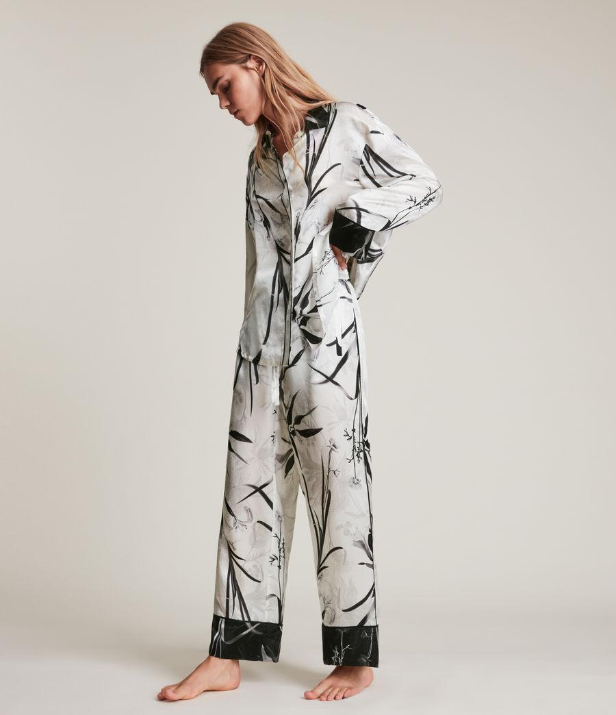 Womens Sofi Rutland Silk Blend Pyjama Top (ecru_white) - Image 4