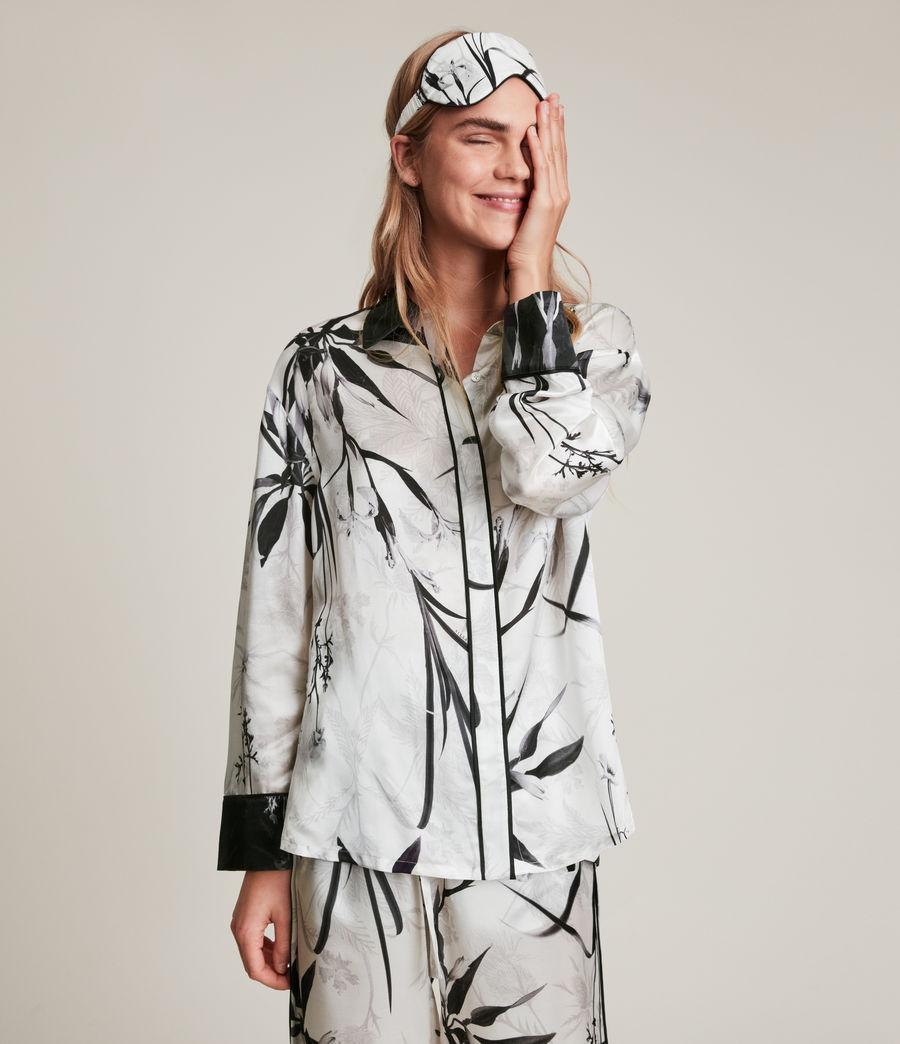 Womens Sofi Rutland Silk Blend Pyjama Top (ecru_white) - Image 5