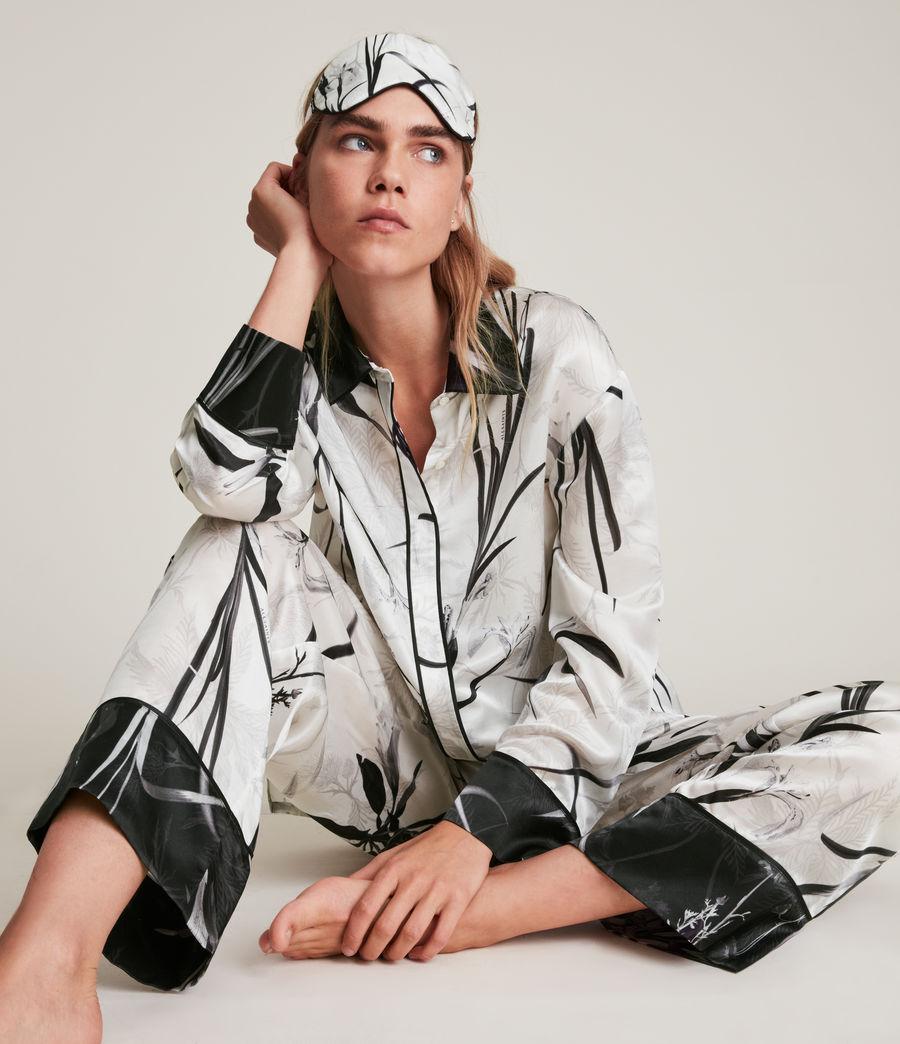 Womens Sofi Rutland Silk Blend Pyjama Top (ecru_white) - Image 6