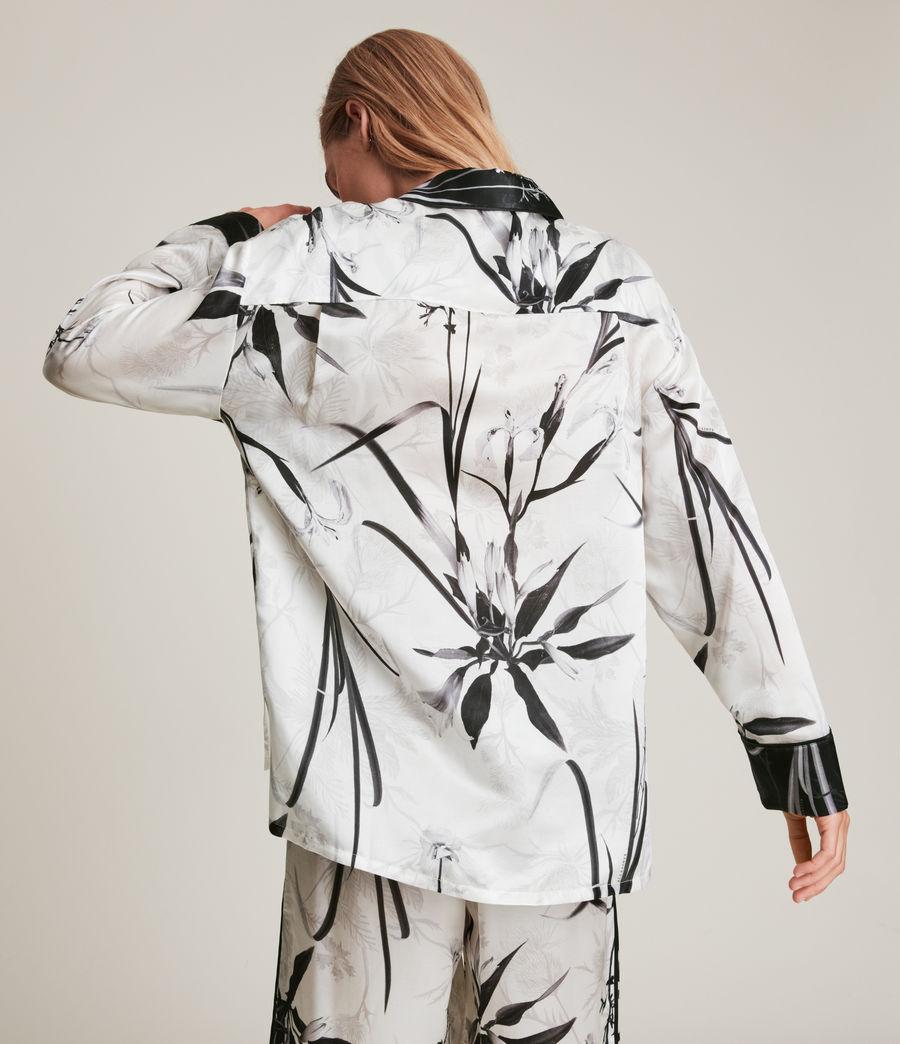 Womens Sofi Rutland Silk Blend Pyjama Top (ecru_white) - Image 7