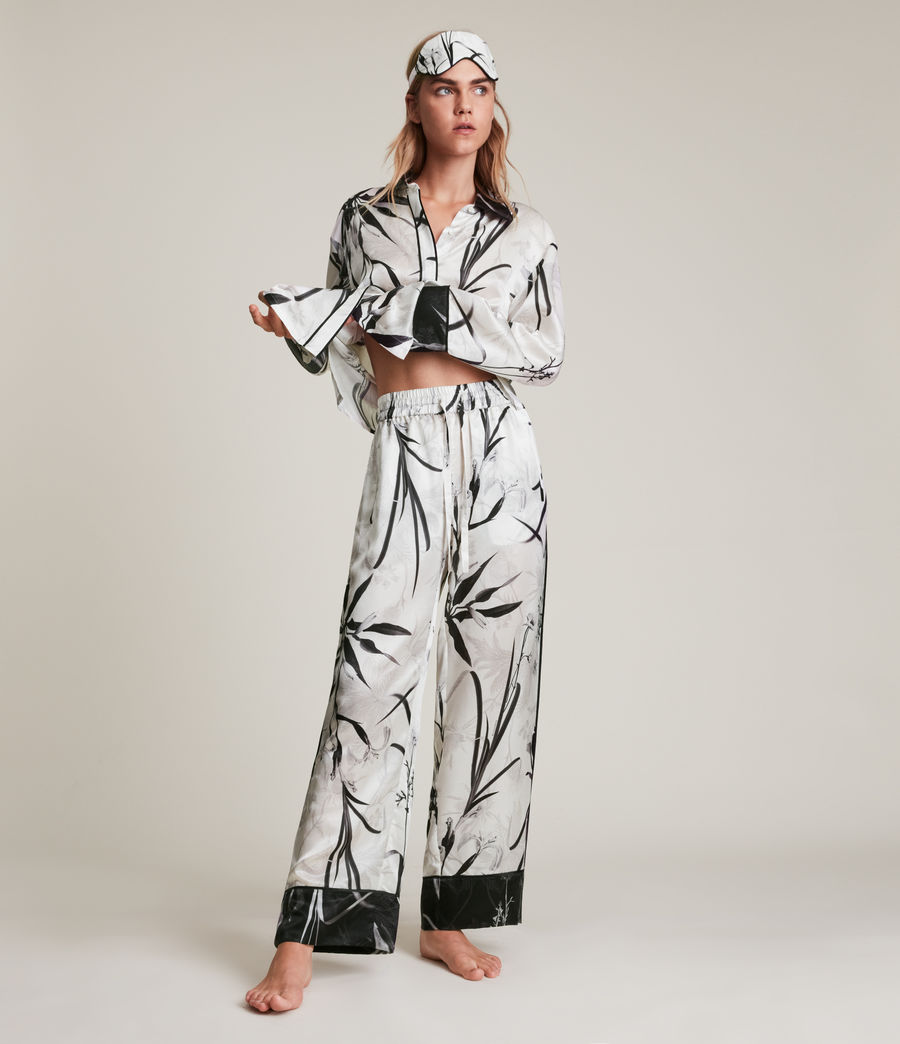 Womens Sofi Rutland Silk Blend Pyjama Pants (ecru_white) - Image 1