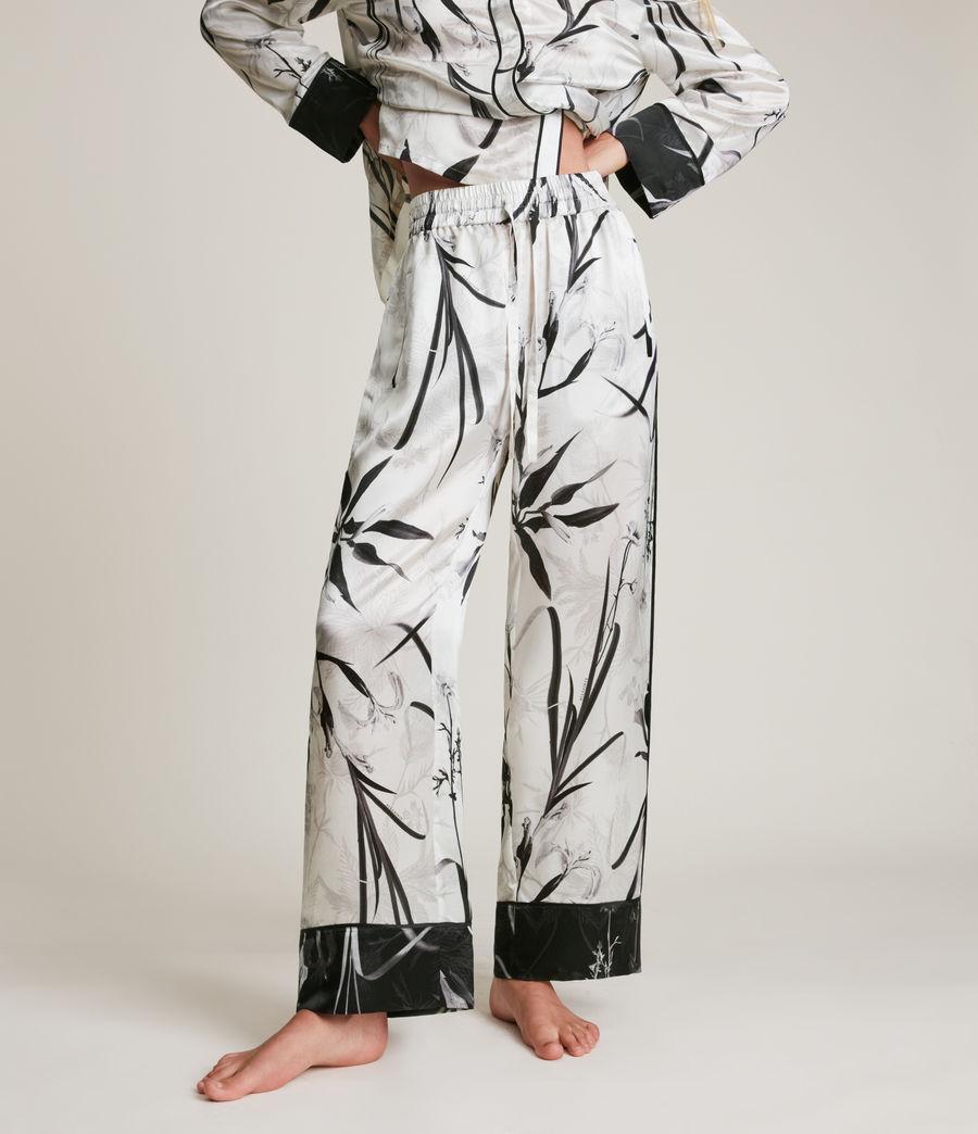Womens Sofi Rutland Silk Blend Pyjama Pants (ecru_white) - Image 2