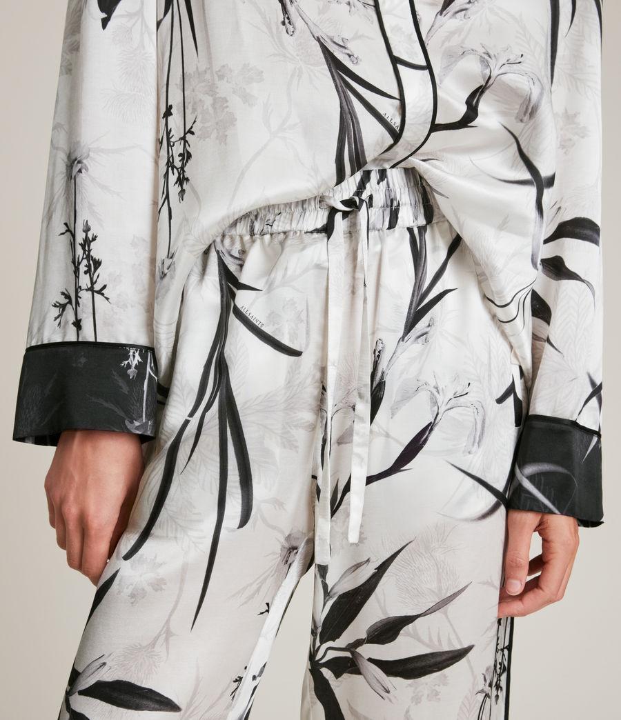 Womens Sofi Rutland Silk Blend Pyjama Pants (ecru_white) - Image 3