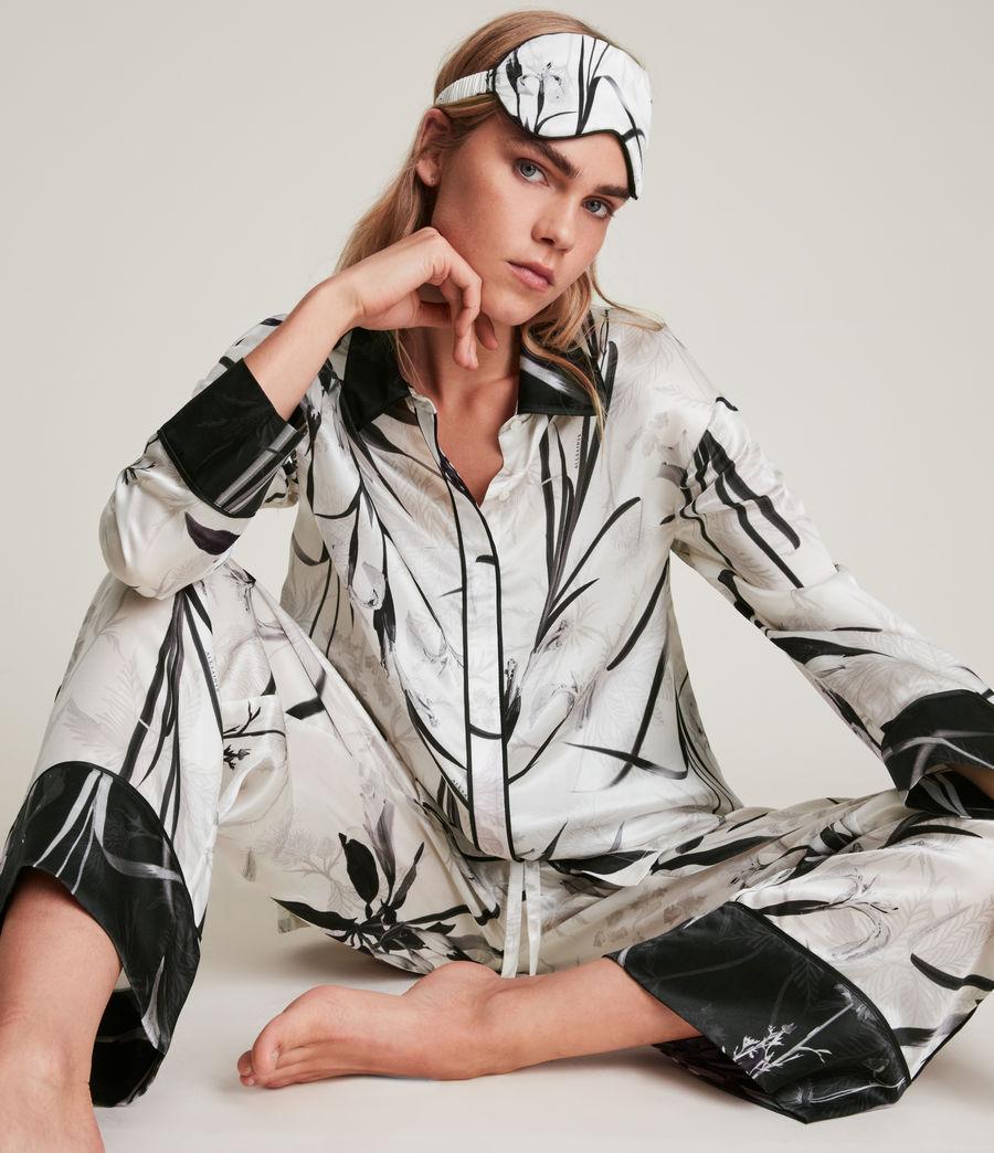 Womens Sofi Rutland Silk Blend Pyjama Pants (ecru_white) - Image 4