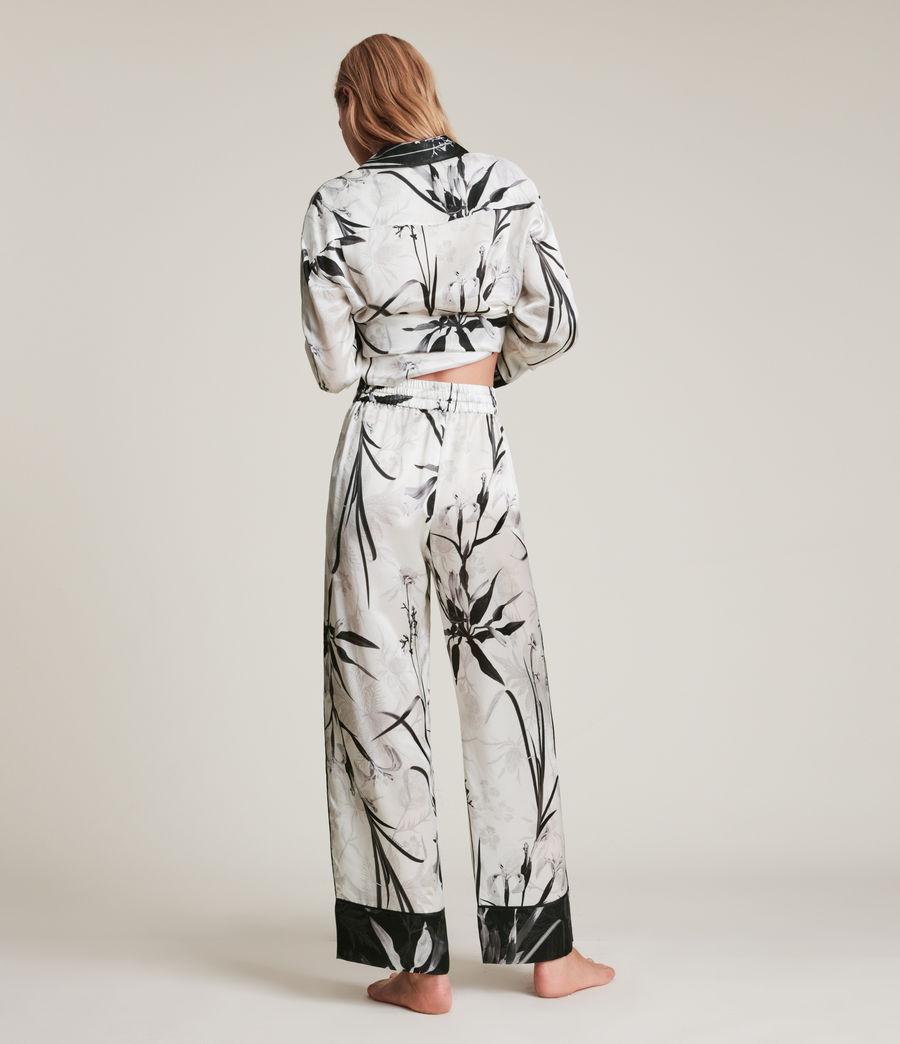Womens Sofi Rutland Silk Blend Pyjama Pants (ecru_white) - Image 5