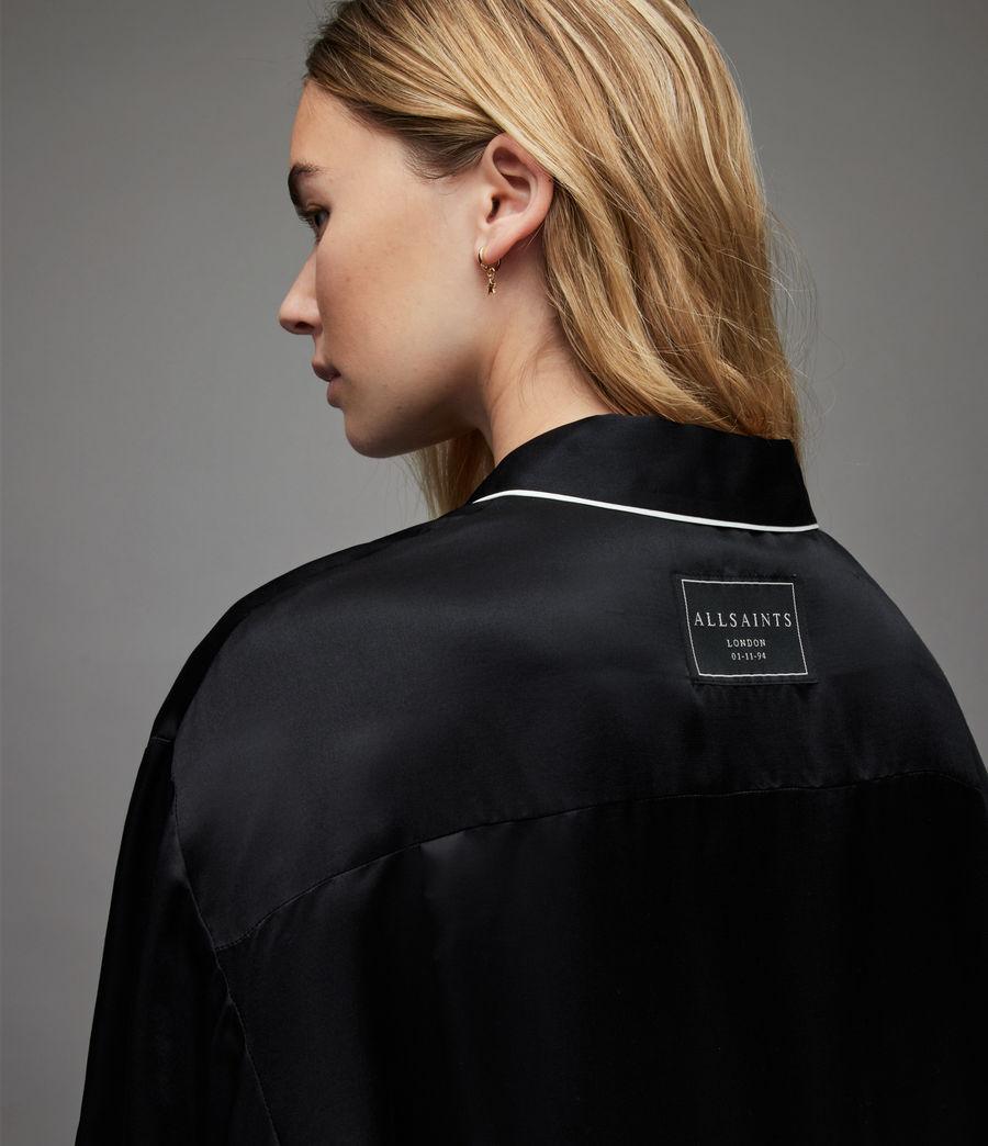 Womens Sofi Silk Blend Pyjama Top (black) - Image 5