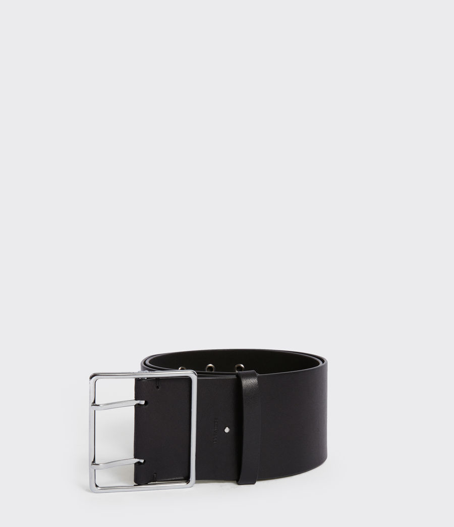 Womens Tatiana Leather Belt (black) - Image 1