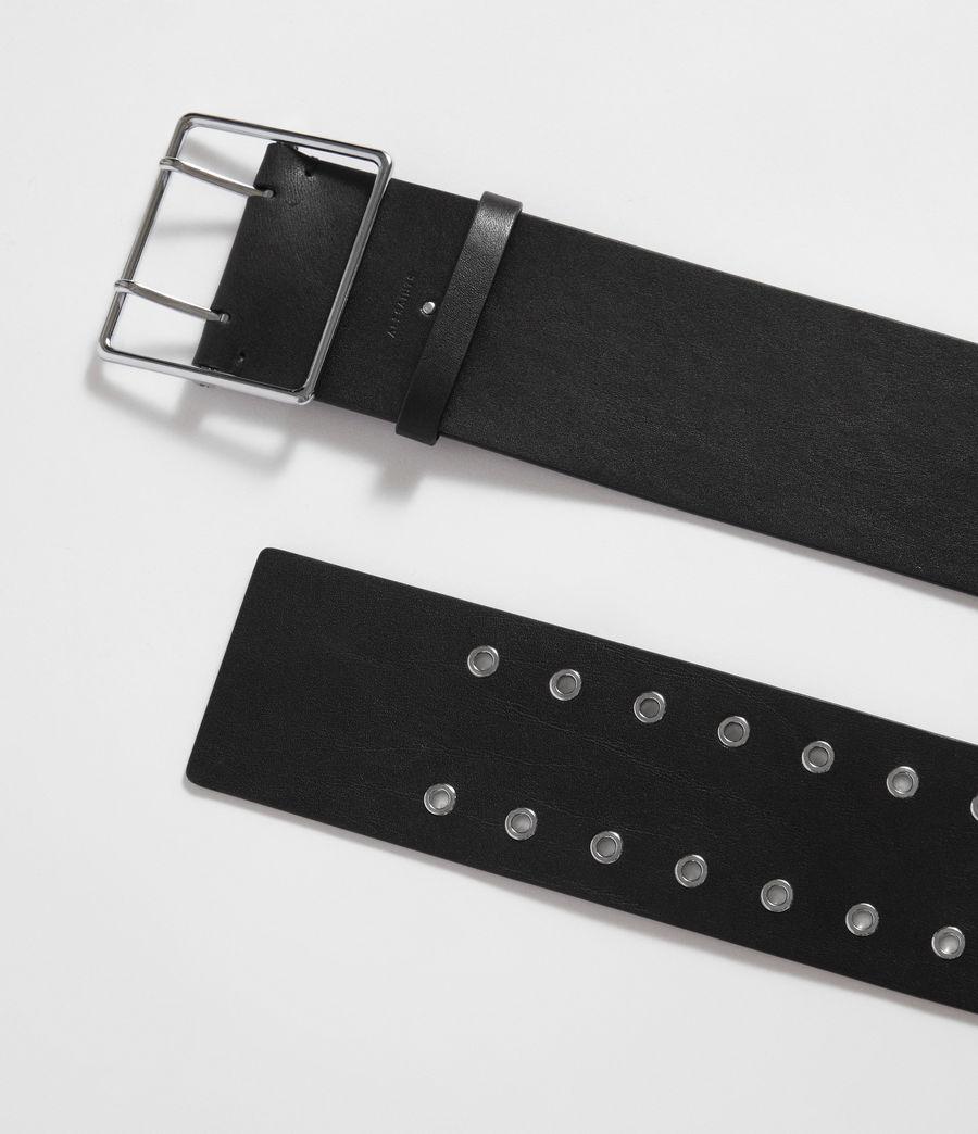Mujer Tatiana Leather Belt (black) - Image 6