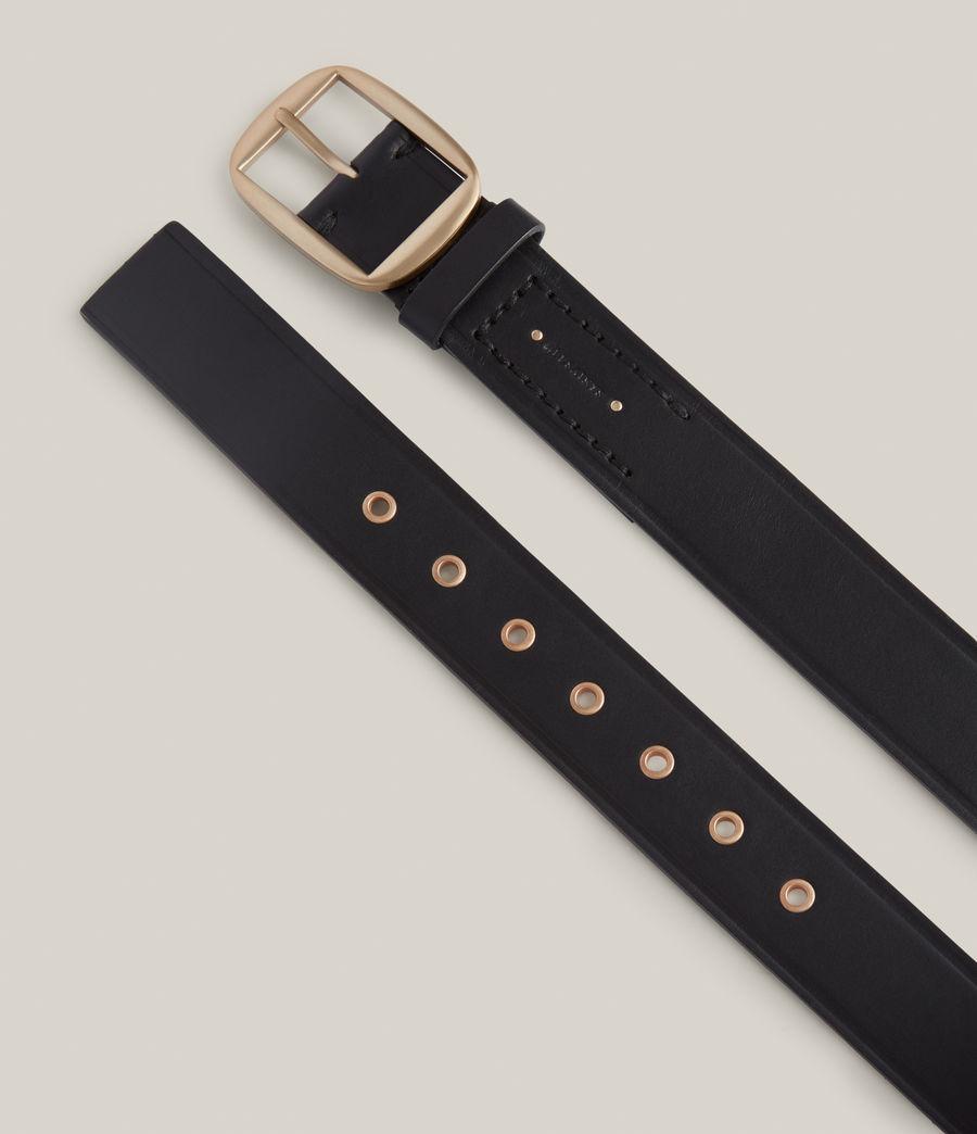 Women's Hazel Leather Belt (black_warm_brass) - Image 3