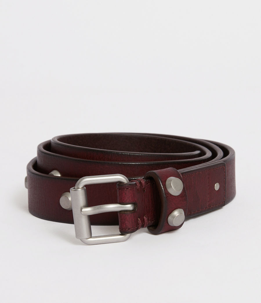 Women's Nadia Leather Belt (deep_plum) - Image 1