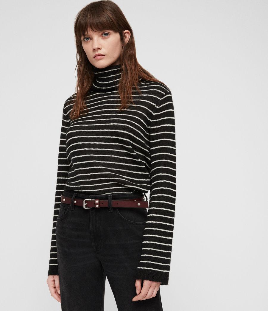 Women's Nadia Leather Belt (deep_plum) - Image 2