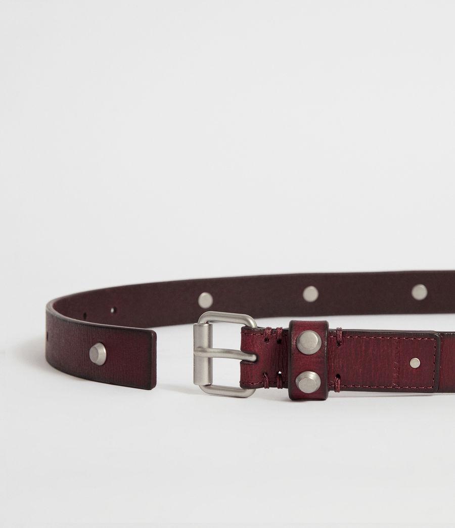 Women's Nadia Leather Belt (deep_plum) - Image 4