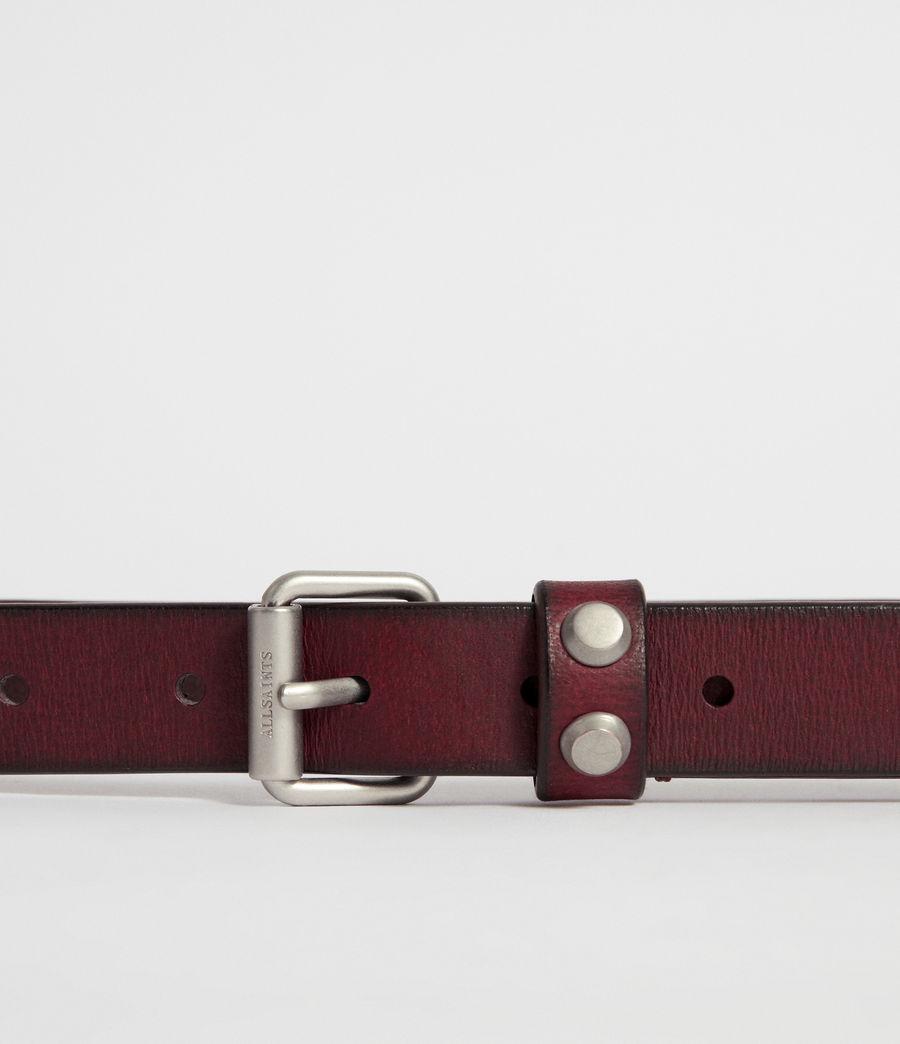 Women's Nadia Leather Belt (deep_plum) - Image 5