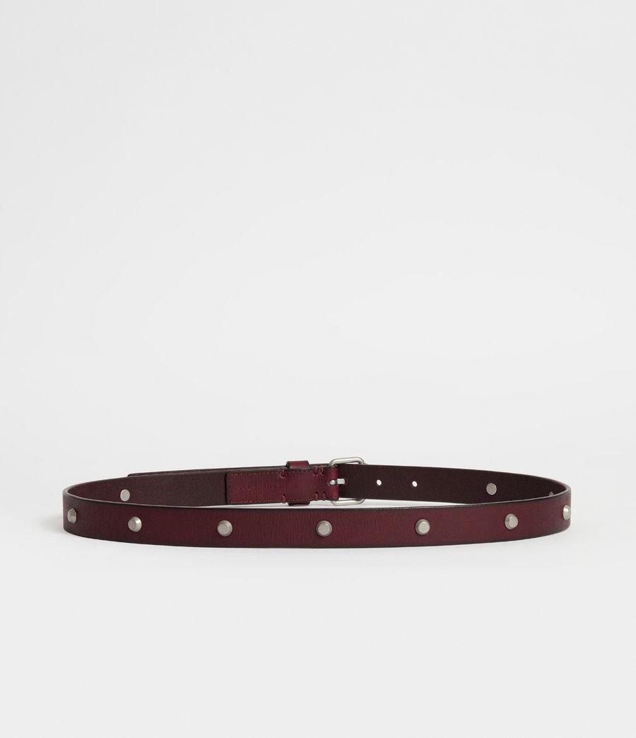 Women's Nadia Leather Belt (deep_plum) - Image 6
