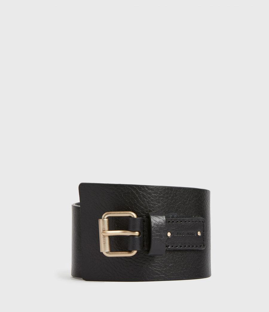 Women's Avery Leather Belt (black) - Image 2