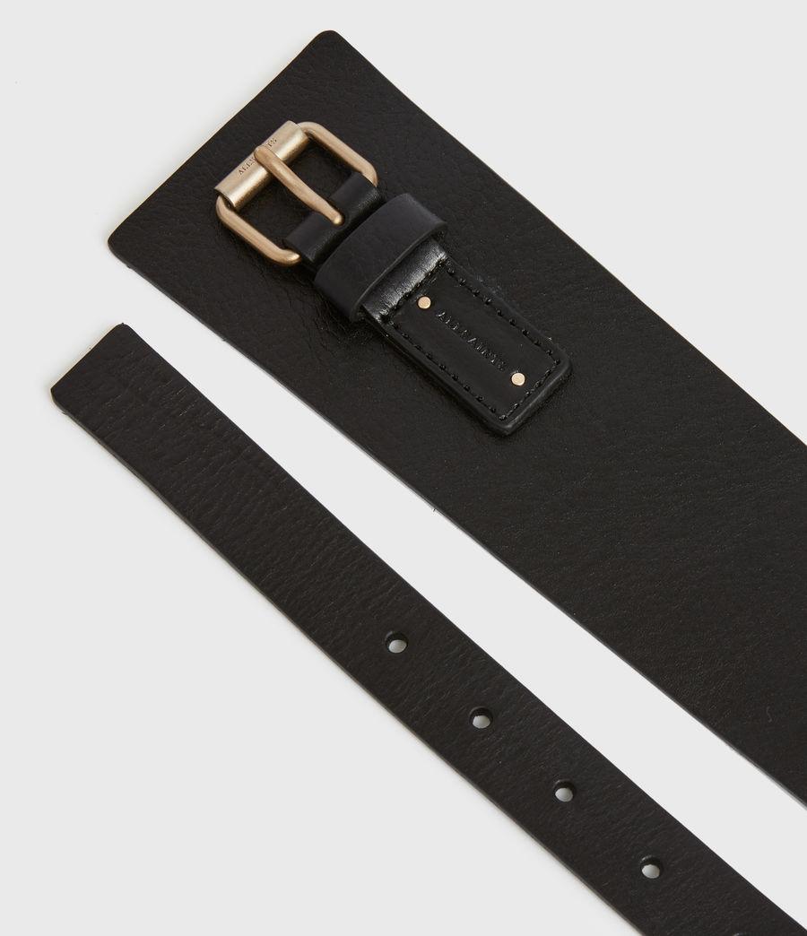 Women's Avery Leather Belt (black) - Image 3