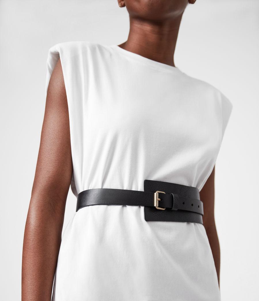Women's Avery Leather Belt (black) - Image 4